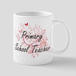 Primary School Teacher Artistic Job Design wi Mugs
