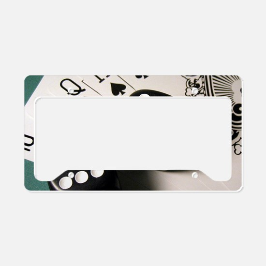 Cards And Dice License Plate Holder