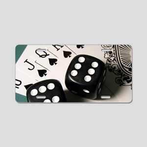 Cards And Dice Aluminum License Plate