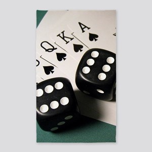 Cards And Dice Area Rug