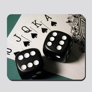 Cards And Dice Mousepad