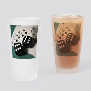 Cards And Dice Drinking Glass