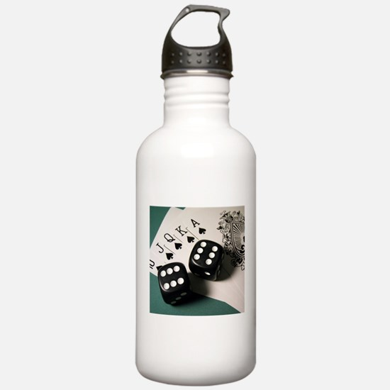 Cards And Dice Sports Water Bottle