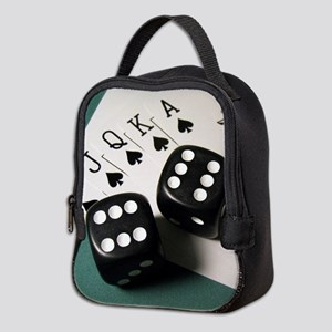 Cards And Dice Neoprene Lunch Bag