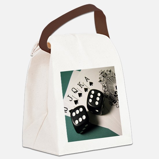Cards And Dice Canvas Lunch Bag