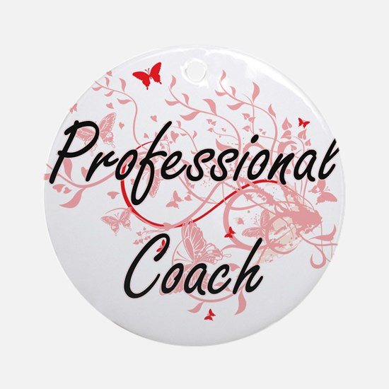 Professional Coach Artistic Job Des Round Ornament