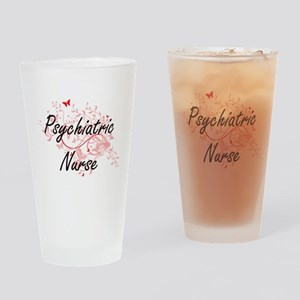 Psychiatric Nurse Artistic Job Desi Drinking Glass