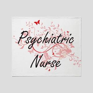 Psychiatric Nurse Artistic Job Desig Throw Blanket