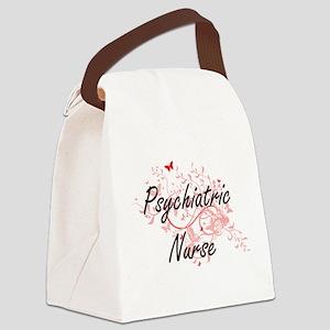 Psychiatric Nurse Artistic Job De Canvas Lunch Bag