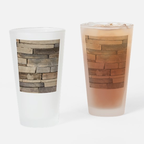 neutral old brick wall Drinking Glass