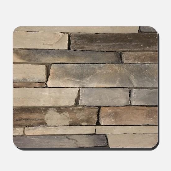 neutral old brick wall Mousepad