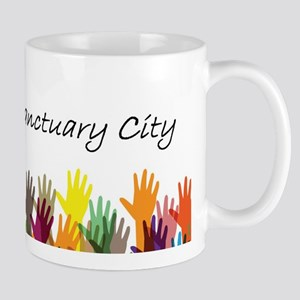 It Takes A Sanctuary City Hands Mugs