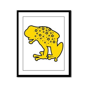 Yellow Spotted Frog Framed Panel Print