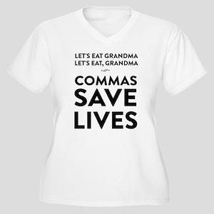 Let's Eat Grandma Commas Save Lives Plus Size T-Sh