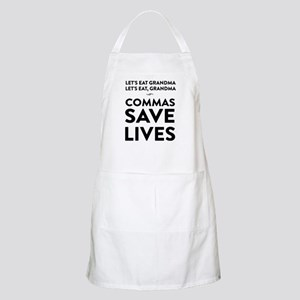 Let's Eat Grandma Commas Save Lives Light Apron