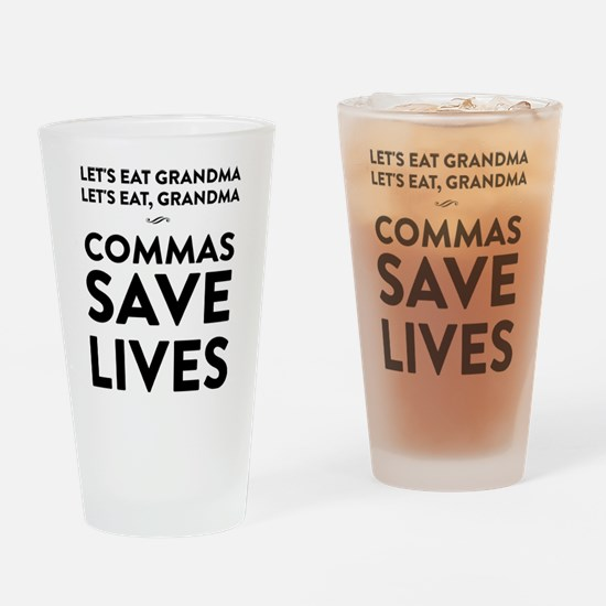 Let's Eat Grandma Commas Save Lives Drinking Glass
