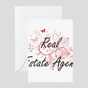 Real Estate Agent Artistic Job Desi Greeting Cards