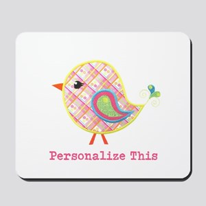 Personalized Baby Bird Mousepad