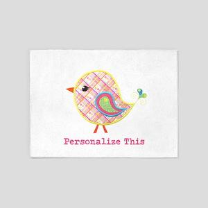 Personalized Baby Bird 5'x7'Area Rug
