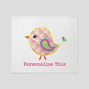 Personalized Baby Bird Throw Blanket
