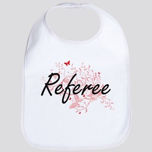 Referee Artistic Job Design with Butterflies Bib