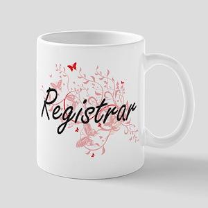 Registrar Artistic Job Design with Butterflie Mugs