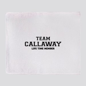 Team CALLAWAY, life time member Throw Blanket