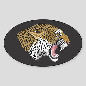 Leopard Oval Sticker