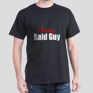 Sexy Bald Guy Black T-Shirt
