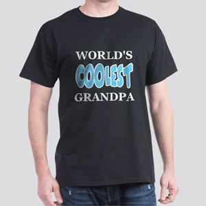 World's Coolest Grandpa Black T-Shirt