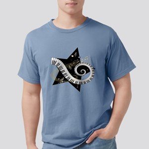 Mixed Musical Notes (black go T-Shirt