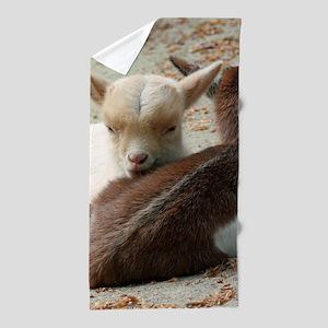 Goat 001 Beach Towel