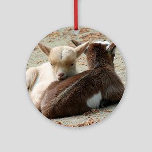 Goat 001 Round Ornament