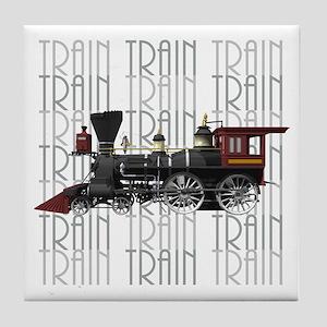 Train Lover Tile Coaster