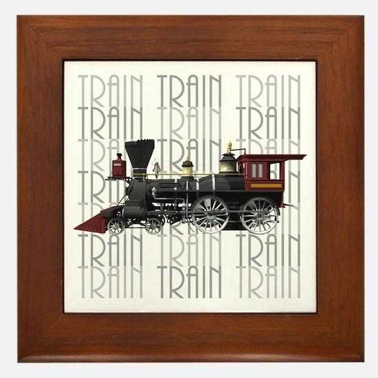 Train Lover Framed Tile