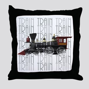 Train Lover Throw Pillow