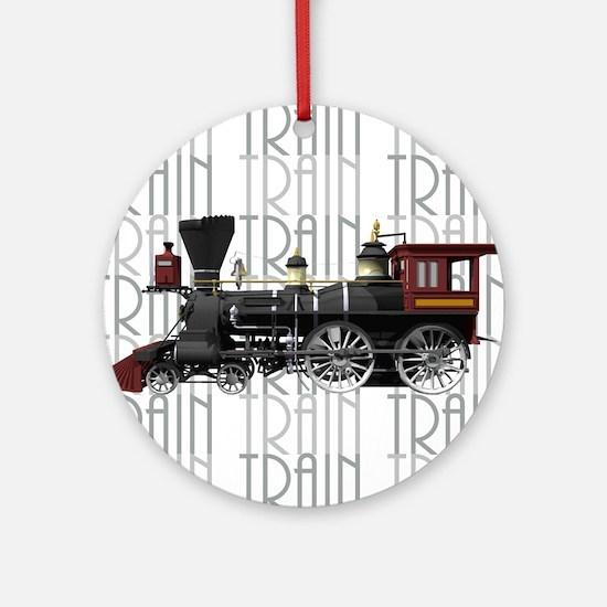 Train Lover Ornament (Round)