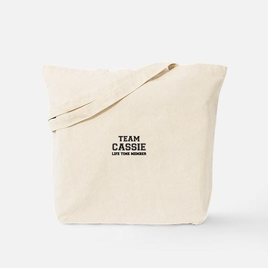 Team CASSIE, life time member Tote Bag