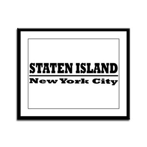 Staten Island Framed Panel Print