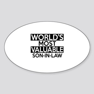 World's Most Valuable Son-in-law Sticker (Oval)