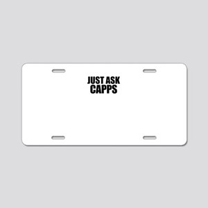 Just ask CAPPS Aluminum License Plate