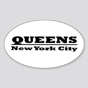 Queens Oval Sticker
