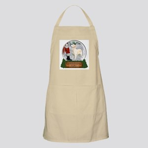 Golden Snow Globe BBQ Apron