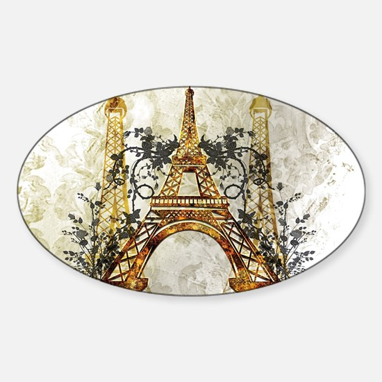 Awesome eiffeltower with roses Decal