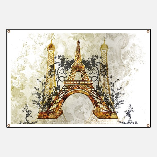 Awesome eiffeltower with roses Banner