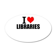 I Love Libraries Wall Decal