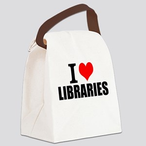 I Love Libraries Canvas Lunch Bag