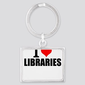 I Love Libraries Keychains