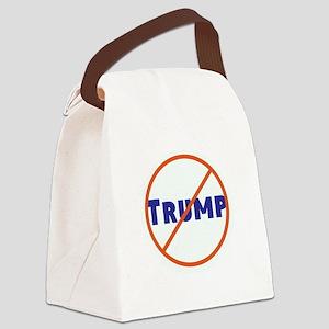 Anti Trump! No Trump Canvas Lunch Bag