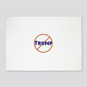 Anti Trump! No Trump 5'x7'Area Rug